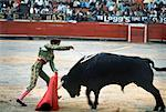 Bull Fighter Stabbing Bull with Sword in Stadium, Mexico    Stock Photo - Premium Rights-Managed, Artist: Carl Valiquet, Code: 700-00056909