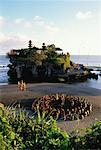 Kecak Dancers at Tanah Lot Temple Bali, Indonesia