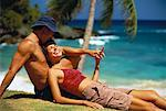 Couple Relaxing on Beach Dominican Republic, Caribbean    Stock Photo - Premium Rights-Managed, Artist: Peter Barrett, Code: 700-00058123