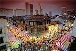 Overview of Chinatown at Chinese New Year, Singapore