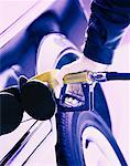 Close-Up of Person Pumping Gas