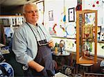 Portrait of Mature Male Stained Glass Artisan in Workshop    Stock Photo - Premium Rights-Managed, Artist: Dan Lim, Code: 700-00058849