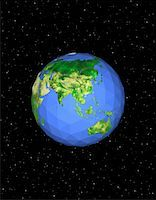 Geodesic Globe in Space, Pacific Rim    Stock Photo - Premium Royalty-Freenull, Code: 600-00059274