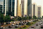 Office Towers and Traffic on City Street, Java, Jakarta, Indonesia    Stock Photo - Premium Rights-Managed, Artist: R. Ian Lloyd, Code: 700-00059294
