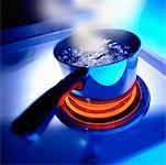 Pot of Boiling Water on Stove Top    Stock Photo - Premium Rights-Managed, Artist: Gary Rhijnsburger, Code: 700-00059650