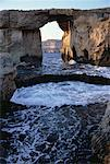 Stone Bridge and Shore Gozo, Malta    Stock Photo - Premium Rights-Managed, Artist: Peter Christopher, Code: 700-00060554