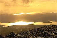 Overview of Rocky Landscape from Mount Wellington at Sunset Hobart, Tasmania, Australia    Stock Photo - Premium Rights-Managednull, Code: 700-00062529