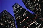 Looking Up at Office Towers at Night, New York, New York, USA    Stock Photo - Premium Rights-Managed, Artist: Roy Ooms, Code: 700-00062607