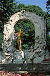 Johann Strauss Memorial Vienna, Austria    Stock Photo - Premium Rights-Managed, Artist: Bryan Reinhart, Code: 700-00062655