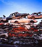 Stacks of Smashed Cars    Stock Photo - Premium Rights-Managed, Artist: Philip Rostron, Code: 700-00062852