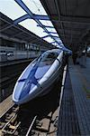 Bullet Train in Kyoto Station Kyoto, Japan    Stock Photo - Premium Rights-Managed, Artist: Ron Stroud, Code: 700-00065223