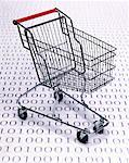 Shopping Cart and Binary Code    Stock Photo - Premium Rights-Managed, Artist: G. Biss, Code: 700-00066097