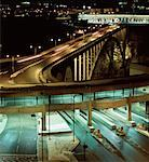 Peace Bridge and City at Night Canada USA Border    Stock Photo - Premium Rights-Managed, Artist: Philip Rostron, Code: 700-00066609