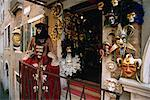 Masks Hanging on Display in Shop Venice, Italy