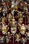 Masks on Display in Shop Venice, Italy