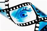 Eye on Film Strip    Stock Photo - Premium Rights-Managed, Artist: Elizabeth Knox, Code: 700-00067742