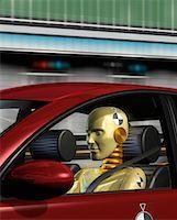 Crash Test Dummy in Car    Stock Photo - Premium Rights-Managednull, Code: 700-00068664
