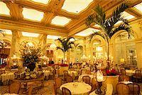 restaurant new york manhattan - Palm Court in The Plaza Hotel New York, New York, USA    Stock Photo - Premium Rights-Managednull, Code: 700-00071050