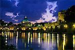 St. Peter's Basilica and Tevere River at Dusk Vatican City, Rome, Italy    Stock Photo - Premium Rights-Managed, Artist: Gail Mooney, Code: 700-00071067