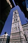 Looking Up at Bell Tower Florence, Italy