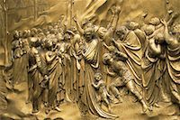 Close-Up of Picture on Wall Baptistry San Giovanni Florence, Italy    Stock Photo - Premium Rights-Managednull, Code: 700-00071135