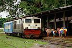 Train near Irrawaddy River North of Mandalay, Myanmar    Stock Photo - Premium Rights-Managed, Artist: R. Ian Lloyd, Code: 700-00071438