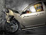 Crash Test Dummy in Crashing Car    Stock Photo - Premium Rights-Managed, Artist: Rick Fischer, Code: 700-00071661