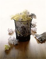 Trash Can Overflowing with Papers    Stock Photo - Premium Rights-Managednull, Code: 700-00071900