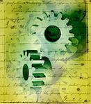 Handwriting and Gears    Stock Photo - Premium Rights-Managed, Artist: Tom Collicott, Code: 700-00072080