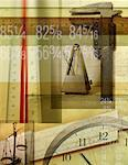 Rulers, Scale, Metronome and Numbers    Stock Photo - Premium Rights-Managed, Artist: Tom Collicott, Code: 700-00072081