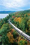 Train through Trees in Autumn Adirondack Mountains New York, USA    Stock Photo - Premium Rights-Managed, Artist: Gail Mooney, Code: 700-00072192