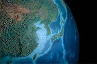 Terrestrial Globe Asia    Stock Photo - Premium Rights-Managednull, Code: 700-00072329