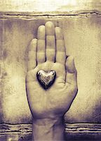 Heart in Palm of Hand    Stock Photo - Premium Royalty-Freenull, Code: 600-00072464
