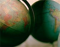 Two Globes    Stock Photo - Premium Rights-Managednull, Code: 700-00072408