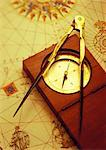 Antique Map and Compass    Stock Photo - Premium Rights-Managed, Artist: David Muir, Code: 700-00073210