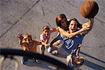 Family Playing Basketball Outdoors    Stock Photo - Premium Rights-Managed, Artist: Kevin Dodge, Code: 700-00073582