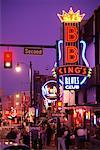Neon Signs on Street at Night Memphis, Tennessee, USA    Stock Photo - Premium Rights-Managed, Artist: Gail Mooney, Code: 700-00073688