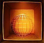 Wire Globe in Box