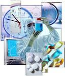 Bio-Medical Research Collage    Stock Photo - Premium Rights-Managed, Artist: Tom Collicott, Code: 700-00075114