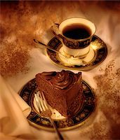Slice of Cake and Cup of Coffee    Stock Photo - Premium Rights-Managednull, Code: 700-00076421