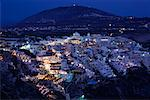 Town at Dusk, Thira, Santorini, Greece