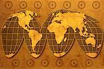 World Map and Clocks    Stock Photo - Premium Rights-Managed, Artist: Boden/Ledingham, Code: 700-00077269