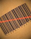 Close-Up of Barcode Being Scanned    Stock Photo - Premium Rights-Managed, Artist: Guy Grenier, Code: 700-00077355