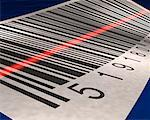 Close-Up of Barcode Being Scanned