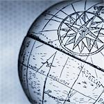 Close-Up of Antique Globe    Stock Photo - Premium Rights-Managed, Artist: David Muir, Code: 700-00078180