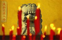 Dragon Statue and Candles Zhouzhuang, Jiangsu Province China    Stock Photo - Premium Rights-Managednull, Code: 700-00079875