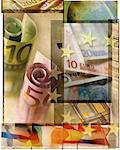 Collage of European Currency    Stock Photo - Premium Rights-Managed, Artist: Tom Collicott, Code: 700-00080678