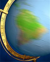 Blurred View of Globe Spinning on Stand South America    Stock Photo - Premium Rights-Managednull, Code: 700-00080711