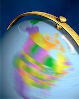 Blurred View of Globe Spinning On Stand North America    Stock Photo - Premium Rights-Managednull, Code: 700-00080719