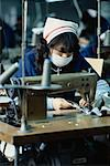 Woman Working at Textile Manufacturing Facility South Korea